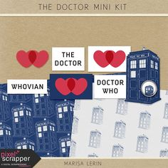 Quality DigiScrap Freebies: The Doctor mini kit freebie from Marisa Lerin