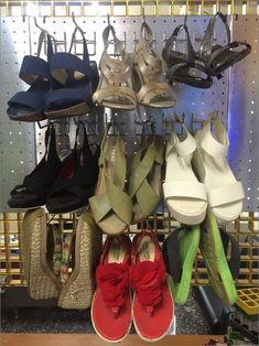#เป๊กบอร์ด #เพคบอร์ด #เพกบอร์ด #เพ๊กบอร์ด #แผ่นกระดานเพ็กบอร์ด #แผงเหล็กเจาะรูติดผนัง Stella Mccartney Elyse, Wedges, Shoes, Fashion, Moda, Zapatos, Shoes Outlet, Fashion Styles, Shoe