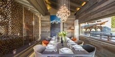 French elegance in a Swiss chalet