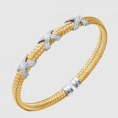 MLC8061YWZ - CZ CUFF, ASOLO, 6MM Silver Bracelets, Gold Jewelry, Cuff Bracelets, Types Of Metal, Jewels, Sterling Silver, Stone, Silver Cuff Bracelets, Rock