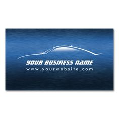 2177 best automotive car business cards images on pinterest automotive cool blue car auto business card colourmoves