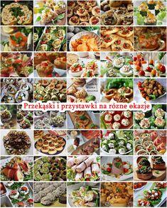 Przekąski i przystawki na różne okazje - Damsko-męskie spojrzenie na kuchnię Snacks Für Party, Kung Pao Chicken, Diy Food, Pasta Salad, Tapas, Catering, Grilling, Food And Drink, Vegetables