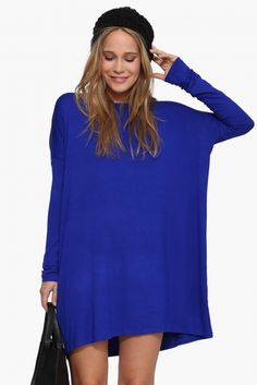 The Necessary Basic Dress in Cobalt blue | Necessary Clothing