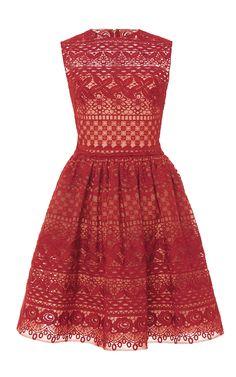 Guipure Lace Sleeveless Dress - Elie Saab Resort 2016 - Preorder now on Moda Operandi
