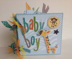 Scrapbook Mini Album Baby Boy Premade Personalized. $29.99, via Etsy.