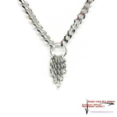 71a957361 BDSM Day Collar Choker CHAINFALL 316L Stainless Steel Graduated Chain  Submissive Necklace LOCKING or Lobster Clasp