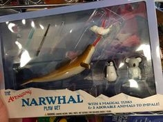 """A """"Creepy"""" Toy - AVENGING NARWHAL """"Play"""" Set With 4 Magical Tusks! & 3 Adorable Animals to IMPALE?  ...Seriously?"""