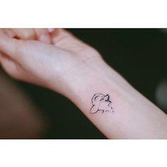 Bambi tattoo by Seoeon. #Seoeon #microtattoo #subtle #minimalist #bambi…