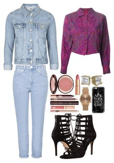 """""""expensive style"""" by harmonizer4ever on Polyvore featuring Topshop, Kenzo, Michael Kors, Charlotte Tilbury and Casetify"""