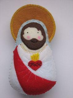 Sacred Heart of Jesus...Felt Softie