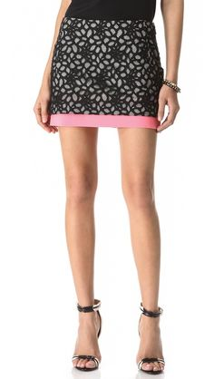 Diane von Furstenberg Elley Lace Miniskirt - obsessed.