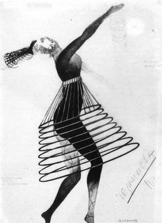 """Rodchenko, Alexander (1926) - costume for """"A Sixth Part of the World"""""""