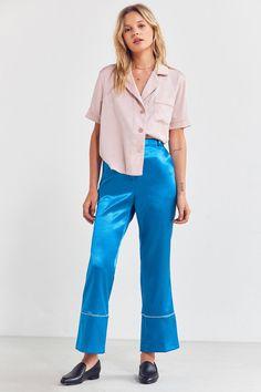 Style Mafia Nuit Satin Pajama Pant   Urban Outfitters