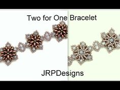 Two For One Bracelet- Intermediate to advanced tutorial  left hand - YouTube  Superduo and 3x4mm rondelle beads
