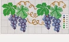 Bom dia amigas um ótimo fim de semana para todas!!!  Trouxe alguns gráficos de frutas...