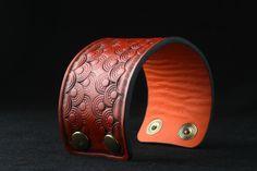 ArtDeco leather bracelet Different Colors, Cuff Bracelets, Art Deco, Leather, Handmade, Etsy, Jewelry, Hand Made, Jewlery