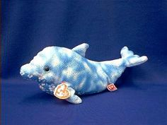 dolphin stuffed animal plush TY docks