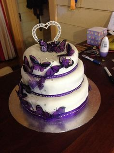 Butterfly 3 tiered cake