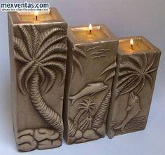 Svíčky • zlacené s plastickým dekorem