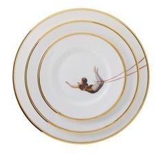 The Trapeze Girl Bone China Plate, Melody Rose