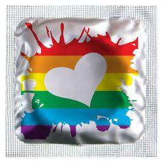 Rainbow Hearts Assorted Colors Condoms