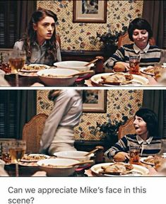 He doesn't consider it a true victory unless Nancy leaves this is every sibling fight ever, the face is so accurate Letras Stranger Things, Stranger Things Fotos, Stranger Things Have Happened, Stranger Things Funny, Stranger Things Season, Stranger Things Netflix, Ketchup, Saints Memes, Favorite Tv Shows