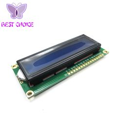 Free Shipping 1PCS LCD1602 1602 module Blue screen 16x2 Character LCD Display Module  blue blacklight