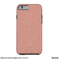 Abstract Pattern light red Tough iPhone 6 Case