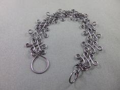 Gunmetal Labyrinth Style Wire Wrapped Bracelet, Wire Wrapping, Bracelets, Silver, Jewelry, Style, Bangles, Jewlery, Money