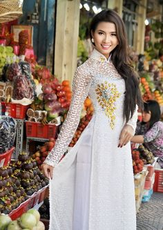 Áo dài ren đá - RD140 / We're proudly present to you:  the hottest dress of this month, thanks for visit :)