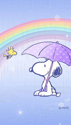 Snoopy no arco íris