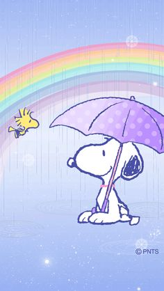 Snoopy, a lovely rainbow after April showers. Woodstock has a great friend...we should all be so lucky!