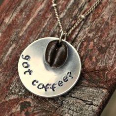 Got coffee? Make this fun DIY necklace for the coffee lovers in your life using metal stamping and Sculpey clay!