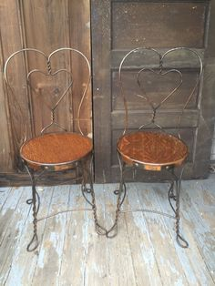 Antique Wrought Iron Ice Cream Parlor Chairs by LimeSilo13 on Etsy