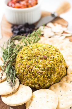 This Pistachio-Crusted Vegan Cheese Ball is actually VERY easy to make! It tastes INCREDIBLE and is great for appetisers and parties!