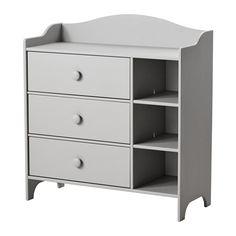TROGEN Byrå IKEA 3 lådor ger dig gott om plats för förvaring. Låda med utdragsstopp;lådan kan inte dras ut och falla ner på fötterna.