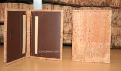 Wallet for cards (model CC-1137) - Eco-friendly - made of real cork. From www.corkfashion.com