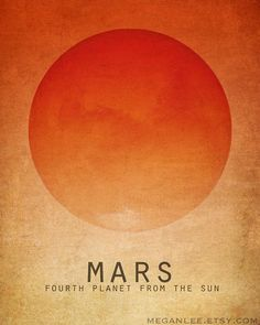 Items similar to Solar System Art - Mini Prints, Astronomy Space Art, Planets in the Galaxy, Educational Decor, Outer Space Nursery Kids Room Artwork on Etsy Solar System Art, Solar System Poster, Mars Planet, Red Planet, Planet Poster, Outer Space Nursery, Nerd Decor, Space And Astronomy, Astronomy Posters