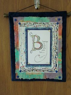 Wall hanging inspired by Joanne Fink's Zenspirations. Doodle Drawings, Doodle Art, Drawing Journal, Sketching, Doodle Lettering, Pen And Paper, Diy Wall Art, Sample Boards, Journaling