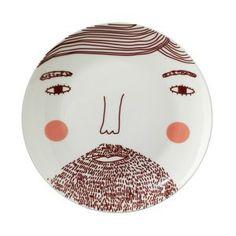 Donna Wilson-Beardie man plate- 20 cm-Rarebird-amsterdam By: Rarebird http://lokalinc.nl/