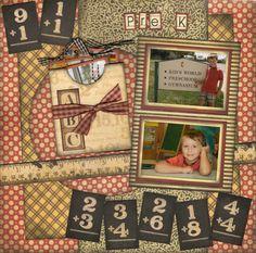 Pre-K - Scrapbook.com - Gorgeous page. #scrapbooking #layouts #graphic45