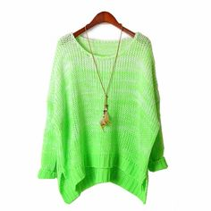 Ombre Fluorescence Loose Pullover