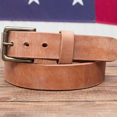 Our most popular belt the big hoss. Made from Herman oak old world harness leather. On sale for only $37.99 for 2 days