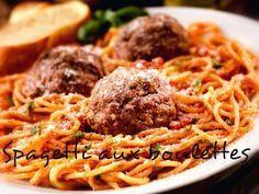 Ingrédients pour spagettis tunisiennes aux boulettes   Boulettes de veau:   300 g de veau haché   1 c.à.c de sel   ½ c.à.c de poivre ...