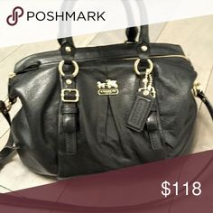 BLACK COACH SHOULDER BAG!! Gorgeous black shoulder bag with crossbody strap. Great condition with no rips or markings. Coach Bags Crossbody Bags