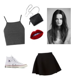 """""""Darker nymphet outfit"""" by jojobabydoll123 ❤ liked on Polyvore featuring Topshop, Neil Barrett, Converse, black, Dark and nymphet"""