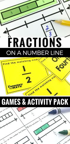 Fractions on a number line games and activities will both engage your students and deepen understanding with visual fraction math models.