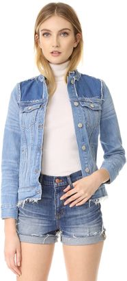 Shop Now - >  https://api.shopstyle.com/action/apiVisitRetailer?id=624137031&pid=uid6996-25233114-59 Madewell Collarless Jean Jacket  ...