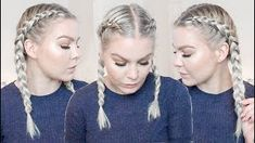 HOW TO DUTCH BRAID YOUR OWN HAIR FOR BEGINNERS – TALK THROUGH & REAL TIME | AMALIE GABS