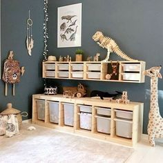 Kinder zimmer Breakfast room Makeover Cube Storage Hack Ideas About The Code On Deck Railings Articl Bedroom Storage Ideas For Clothes, Bedroom Storage For Small Rooms, Playroom Storage, Ikea Kids Storage, Ikea Trofast Storage, Cube Storage, Hat Storage, Ikea Kura, Storage Baskets